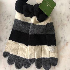 Kate Spade Stripe Knit Gloves